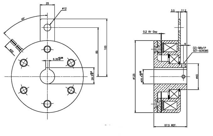 electric brake electromagnetic brake smb 560